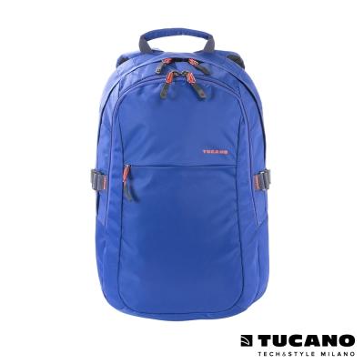 TUCANO LIVELLO UP 亮面尼龍後背電腦包 15.6吋(適用16吋) 亮藍