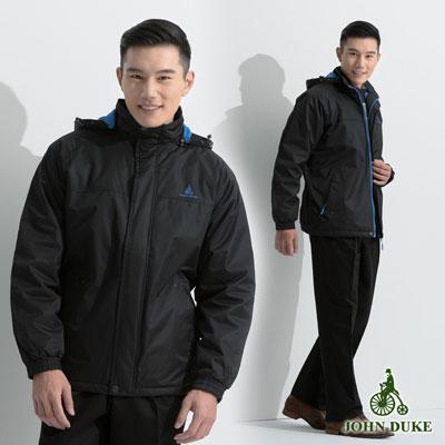 JOHN-DUKE-運動休閒連帽防風外套-黑色-32-6K2251