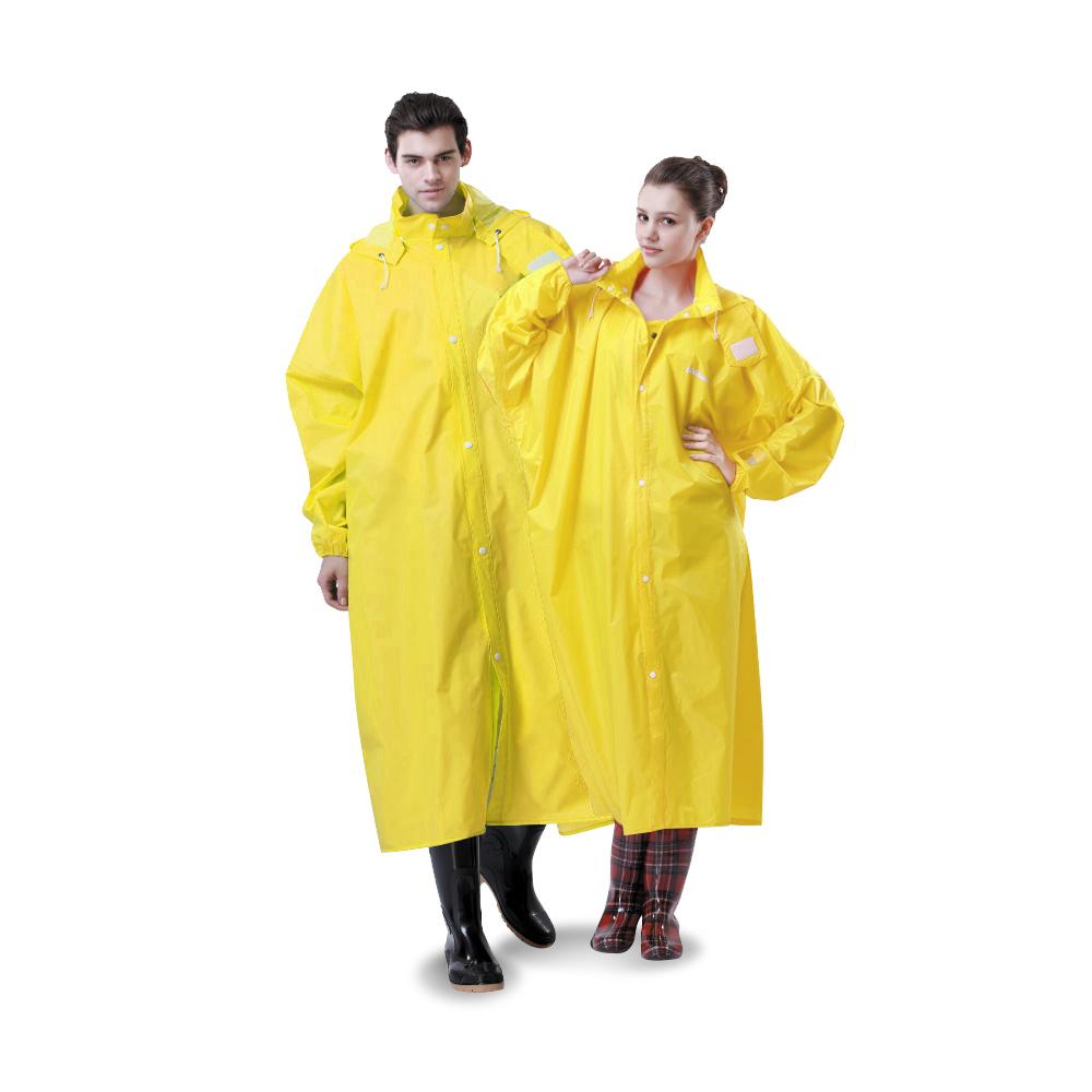 達新牌-達新馳素色前開式雨衣-亮黃
