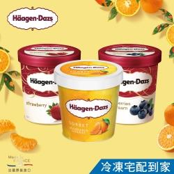 哈根達斯-柑橘雪酪雙莓品脫4入組(柑橘雪酪/