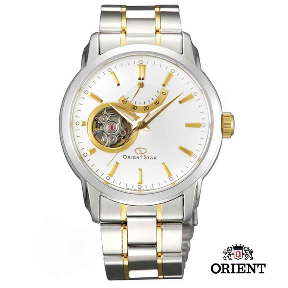 ORIENT STAR 東方之星 OPEN HEART 小鏤空機械錶-白x雙色版/39mm