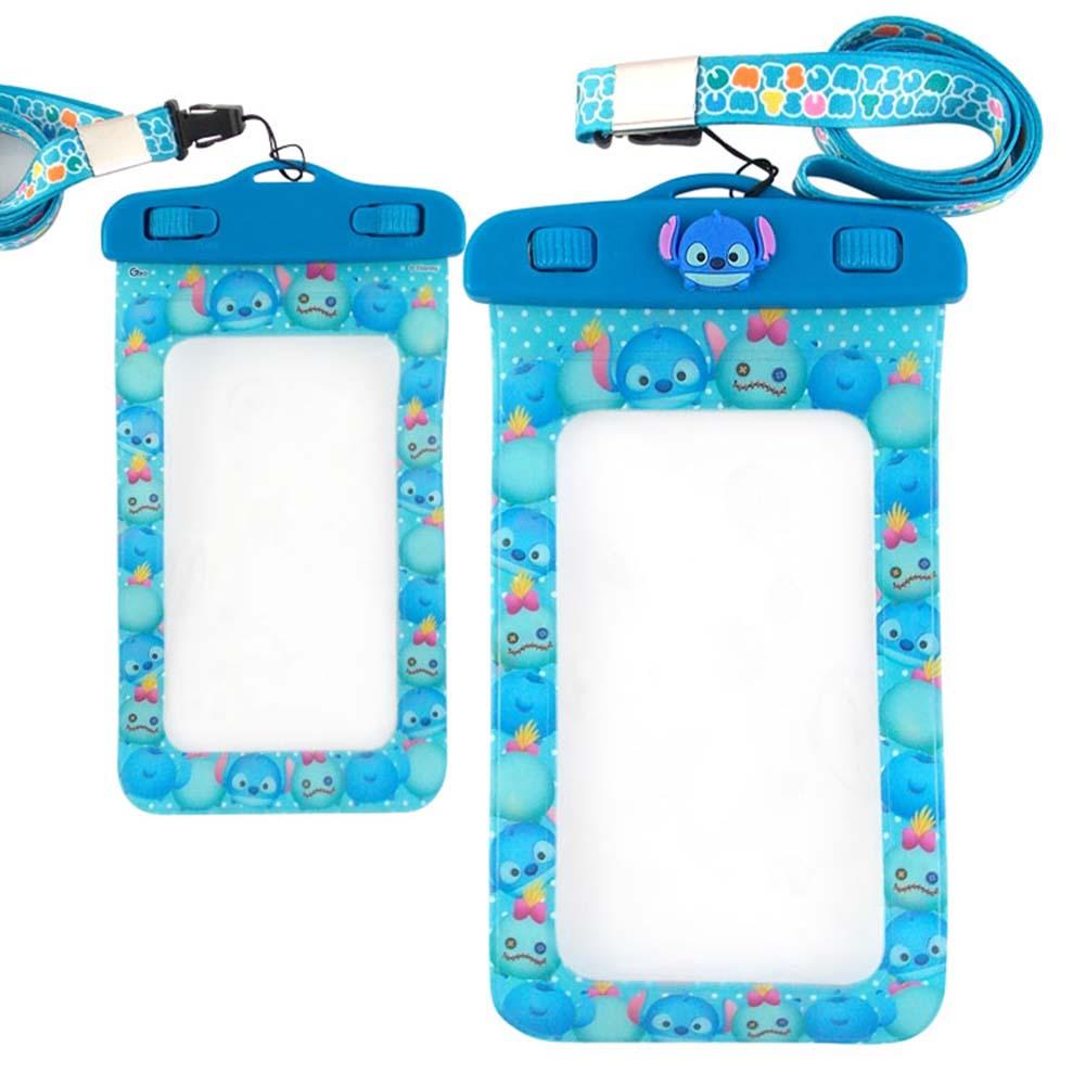 Disney迪士尼TSUM TSUM 5吋通用可愛繽紛手機防水袋-史迪奇