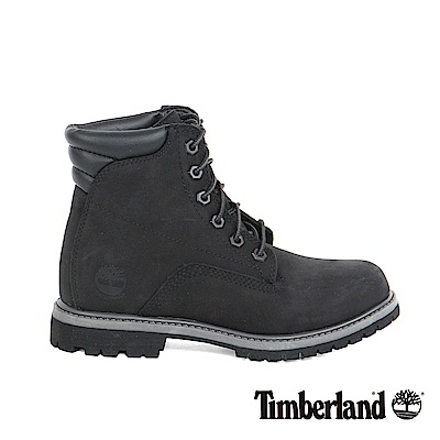 Timberland 女款黑色絨面皮革Waterville 6吋靴
