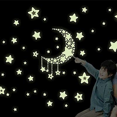 Pond's 夜光壁貼~星星月亮(2入)Y0015