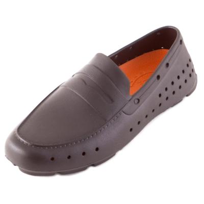 (男/女)Ponic&Co美國加州環保防水洞洞懶人鞋-深咖啡色