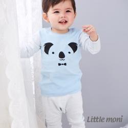 Little moni 純棉家居系列條紋長褲 粉紫藍