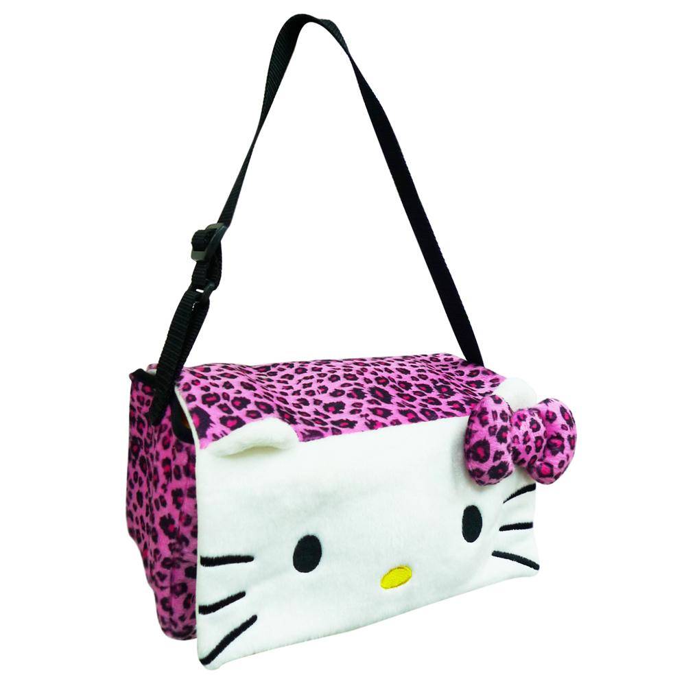 【享夢城堡】Hello Kitty 豹紋系列-多功能面紙盒掛袋