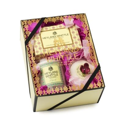 H&W英倫薇朵 黃金沐浴馨香禮盒(手工香氛皂95g+香浴塊40g+香氛燭75g)