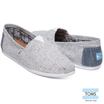 TOMS 猜字遊戲帆布懶人鞋-男款(黑)