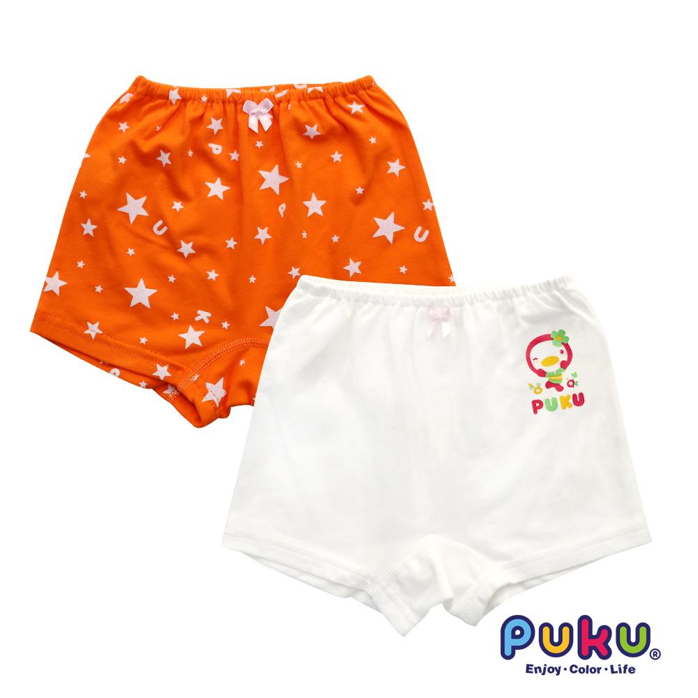 PUKU藍色企鵝 女Star彈性四角內褲2入(SS~XL)