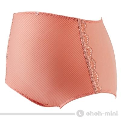 【ohoh-mini 孕婦裝】波挺UP‧斜紋彈力高腰內褲(粉橘)