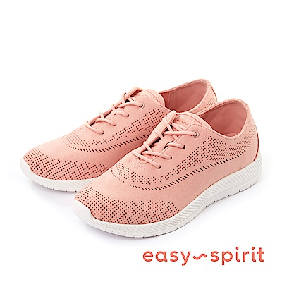 Easy Spirit--樂活輕盈流線沖孔休閒鞋-優雅粉