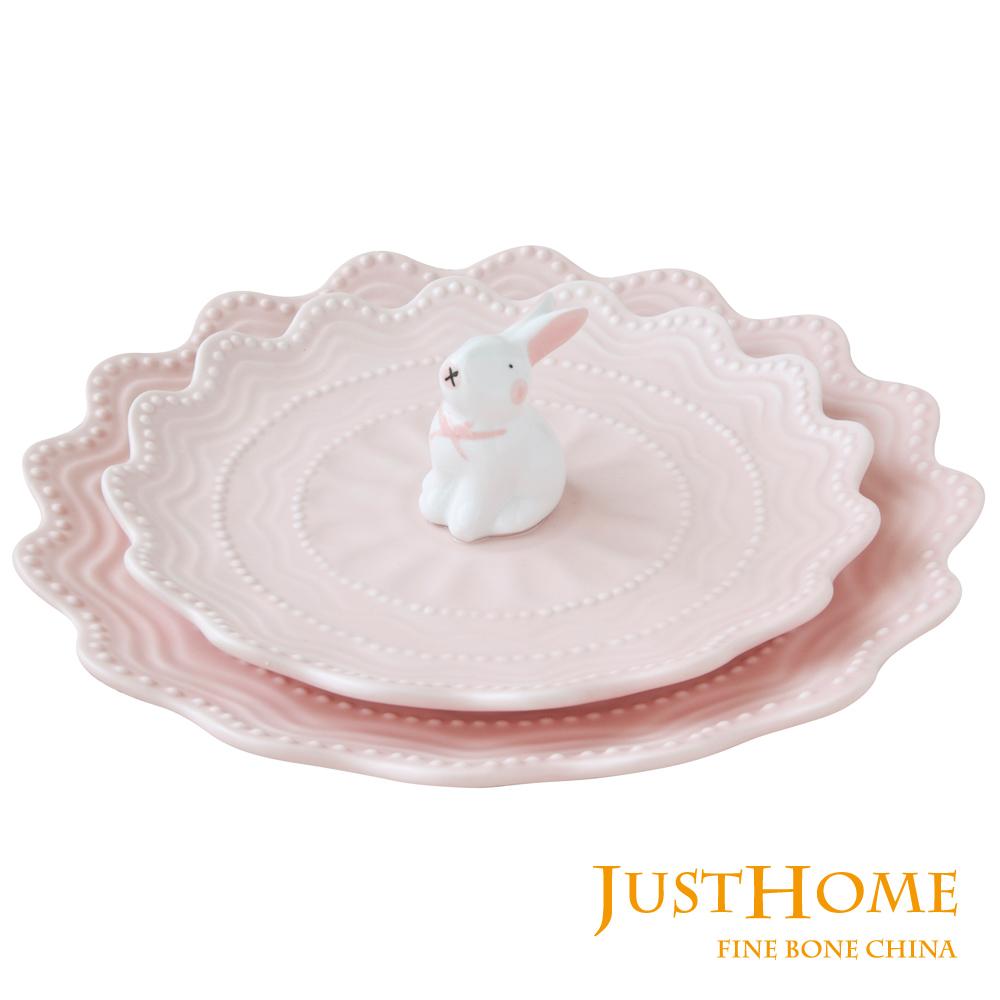 Just Home暖兔陶瓷餐盤2件組8吋10吋各1個