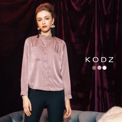 東京著衣-KODZ 歐美流行光澤感多色設計襯衫