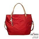 satana - 929 Ladies 都會摩登 俐落2way大方包 - 深紅色