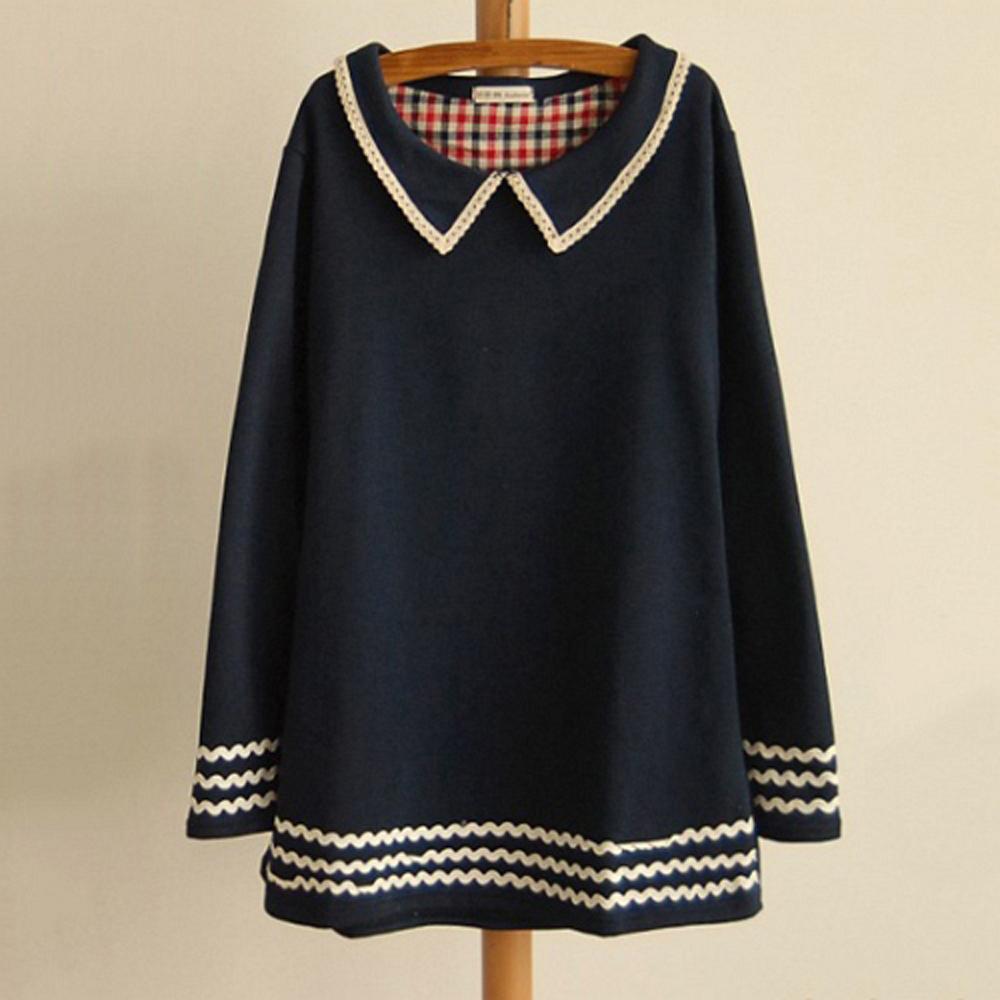 【LOVE20東京館】現貨 氣質學院風長板休閒衫(共二色)