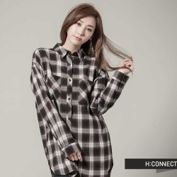 H:CONNECT 經典格紋法蘭絨襯衫