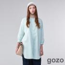 gozo時光凍存迷幻格紋襯衫洋裝(二色)-動態show