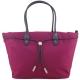 agnes b. VOYAGE尼龍麻繩束袋手提包(大/紫紅) product thumbnail 1