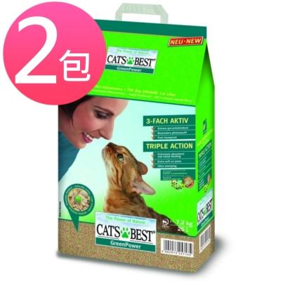 凱優CAT'S BEST《強效凝結除臭木屑砂》黑標 20L (兩包組)