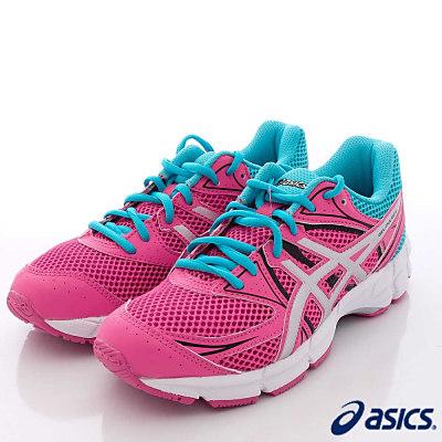 asics競速童鞋-亞瑟膠避震運動37N-2193桃藍(大童段)-N0