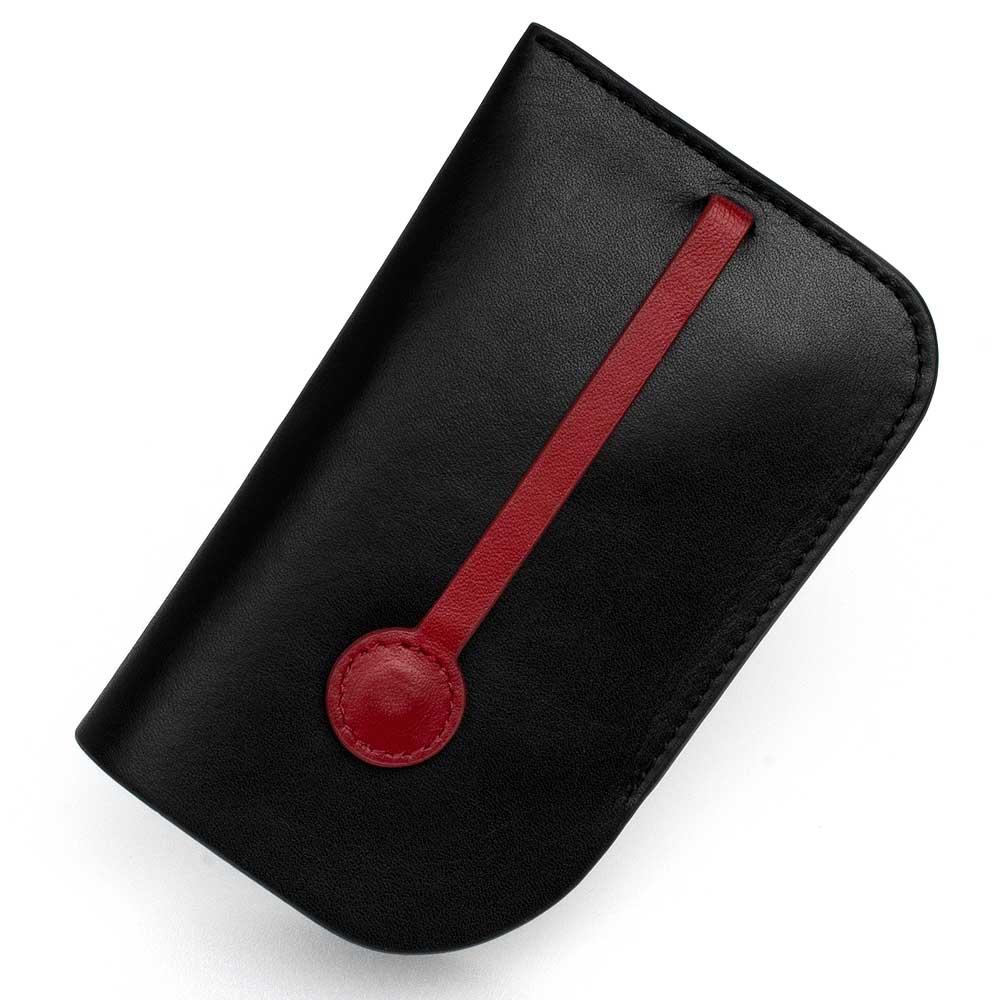 MONDIANE 瑞士國鐵隱藏式拉環牛皮鑰匙包