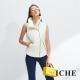 ICHE衣哲 暖時尚高領時尚印花拼貼拉鍊保暖造型背心-動態show product thumbnail 2