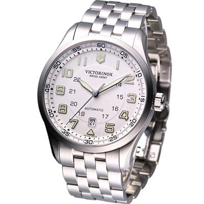 Victorinox Airboss 飛行家系列機械腕錶-白/42mm