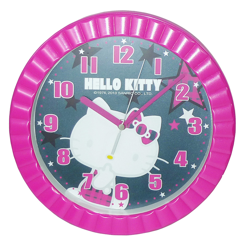 Hello Kitty 魔幻星空超靜音掛鐘 JM-W5612KT-B