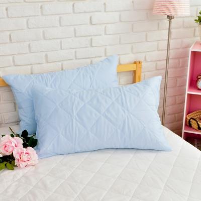 亞曼達Amanda 亮妍粉彩 枕頭保潔墊 天空藍(2入)