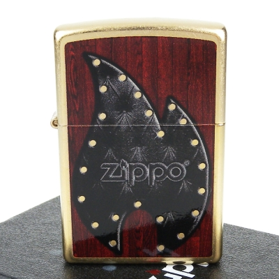 【ZIPPO】美系~Leather Flame-皮革火焰圖案設計打火機