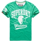 SUPERDRY 極度乾燥 短袖 文字T恤 綠色 0028