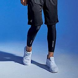 【AIRWALK】反光條運動緊身長褲-黑色
