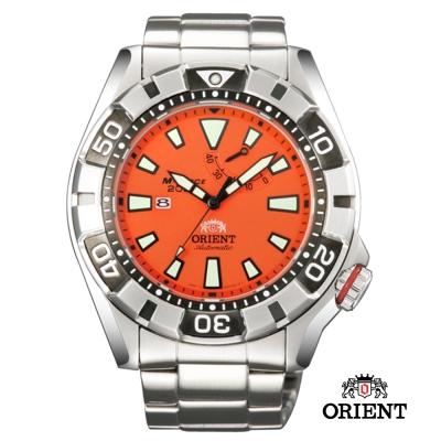 ORIENT東方錶M 潛水機械錶-橘/46mm