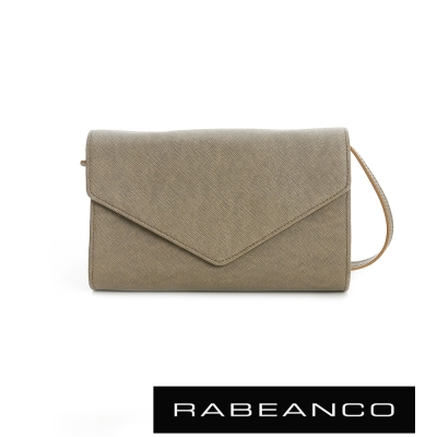 RABEANCO-迷時尚系列牛皮兩用信封包-灰
