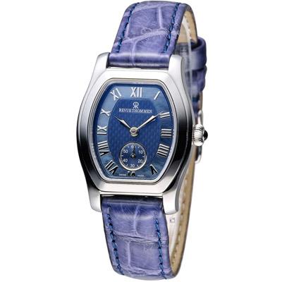 梭曼 Revue Thommen 藝術家系列機械腕錶-藍色/27x28mm