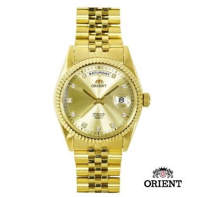 ORIENT 東方錶 WILD CALENDAR系列 蠔式型機械錶-金/36.5mm