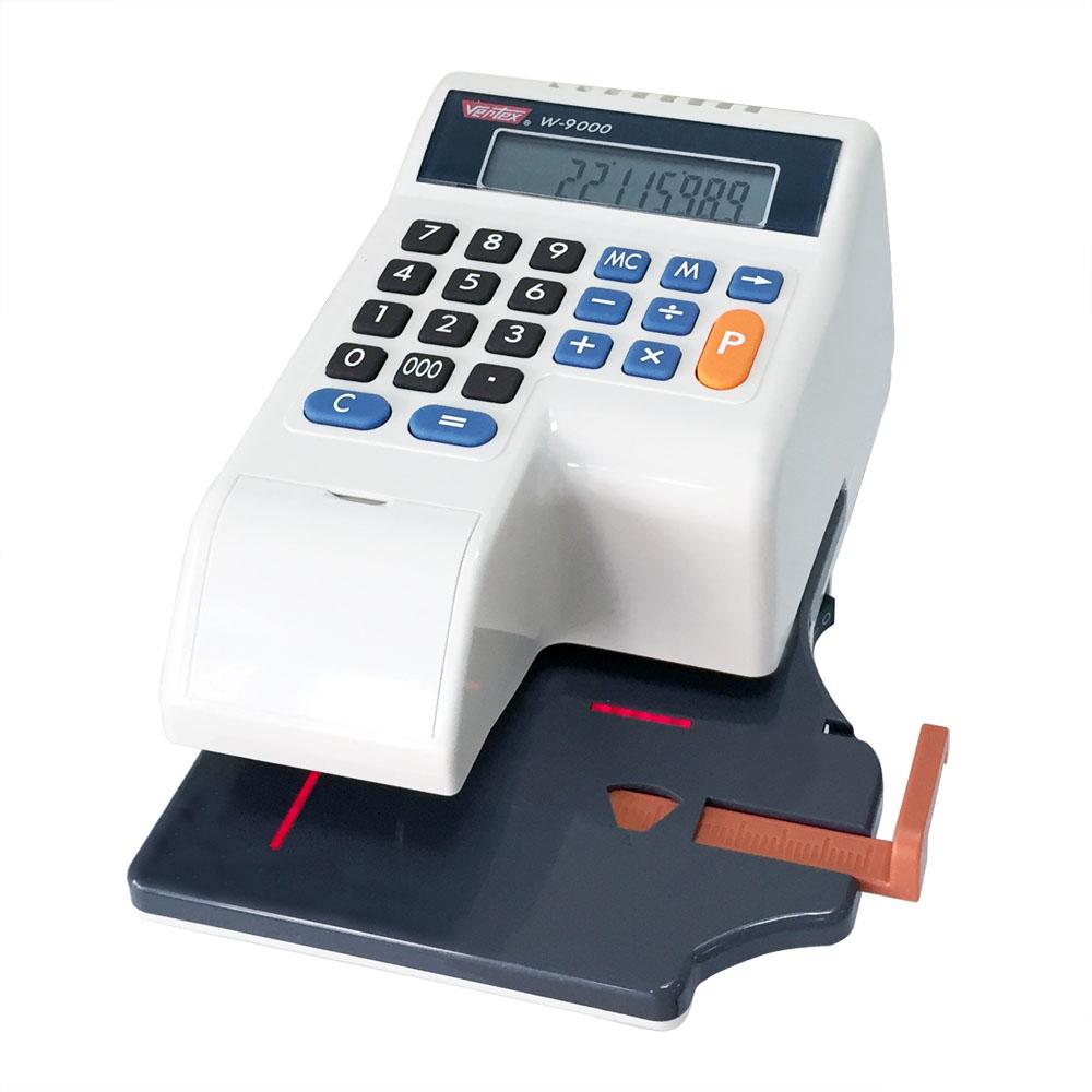 世尚 VERTEX 微電腦光電+自動夾紙中文支票機 W-9000送餐具