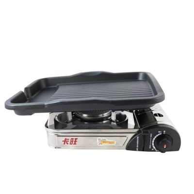 韓國DUK HUNG新款長型不沾烤盤/韓國滴油烤盤DH28+K-ONE卡旺-遠紅外線瓦斯爐