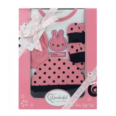 美國Elegant kids彌月禮盒-短袖4件式禮盒
