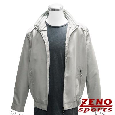 ZENO 防風條紋輕薄外套‧卡其灰L~XL