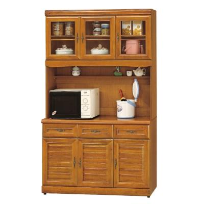 AS-愛瑪4尺實木樟木色高餐櫃 120X42X201cm