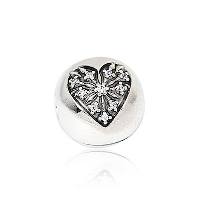 Pandora 潘朵拉 冬日之心鑲鋯 純銀墜飾 串珠