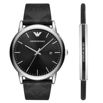 ARMANI 亞曼尼 Gift  紳士皮帶錶(AR 80012 )黑/ 43 mm