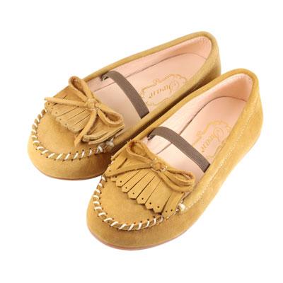 Swan天鵝童鞋-全真皮流蘇莫卡辛皮鞋 3802-卡