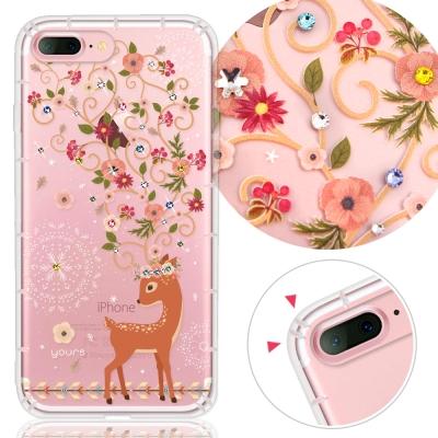 YOURS APPLE iPhone7 Plus 奧地利水晶彩繪防摔手機殼-奈良鹿
