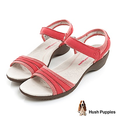 Hush Puppies ATHOS 舒適機能涼鞋-桃紅