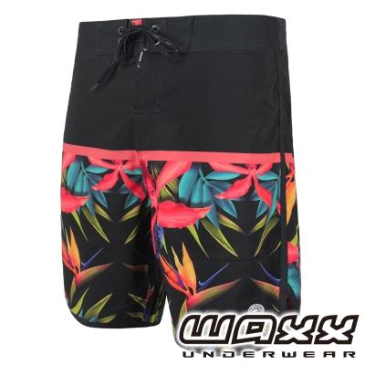 WAXX熱浪系列-暗黑天堂鳥快乾型男衝浪褲(18英吋)
