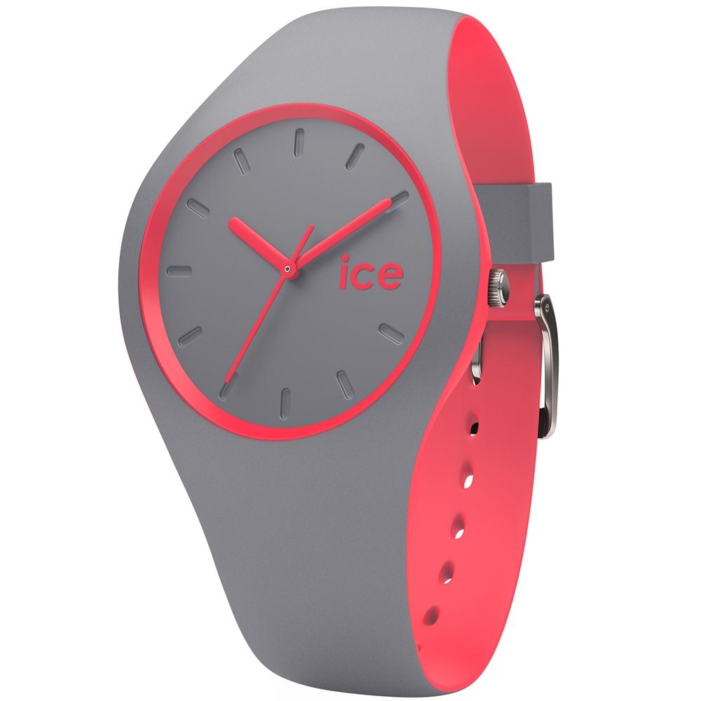 Ice-Watch 玩色系列 炫彩新時尚手錶-銀灰x珊瑚紅/41mm