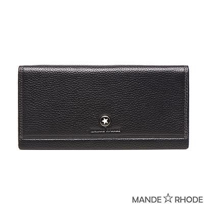 MANDE RHODE-貝加莫x自然皮紋紳士二折真皮長夾(02029-C)